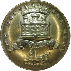 Royal Gloucestershire Berkshire & Wiltshire Regiment 19mm Mounted Dome  Silver-plate and gilt Military uniform button