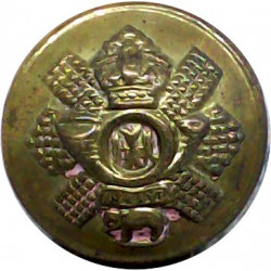 1st The King's Dragoon Guards 18.5mm with King's Crown. Brass Military uniform button