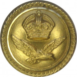 Scots Guards - No Rim 14mm with Queen Elizabeth's Crown. Gilt Military uniform button