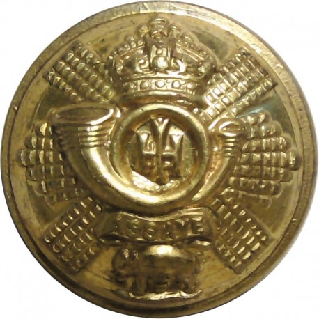 Small Arms School Corps 18.5mm with King's Crown. Chrome-plated Military uniform button