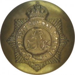 1st The King's Dragoon Guards 26mm with King's Crown. Brass Military uniform button