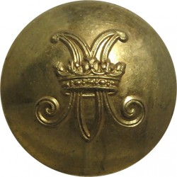 Royal Engineers - EiiR 19.5mm with Queen Elizabeth's Crown. Brass Military uniform button