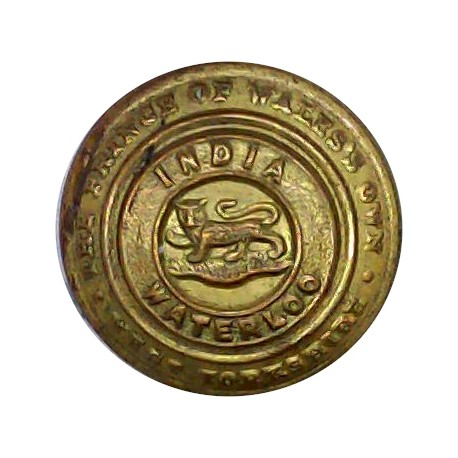 West Yorkshire Regiment (The Prince Of Wales's Own) 19mm - Tail-Up  Brass Military uniform button