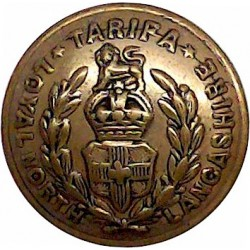 Loyal Regiment (North Lancashire) - Rimmed 19.5mm - 1902-1952 with King's Crown. Brass Military uniform button