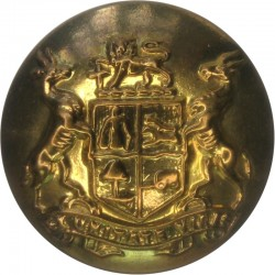 1st King George's Own Gurkha Rifles (Malaun Regiment 24mm - Black Horn Military uniform button