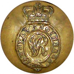 Scots Guards 19mm with Queen Elizabeth's Crown. Gilt Military uniform button