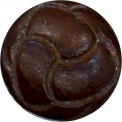 Ayrshire (Earl of Carrick's Own) Yeomanry 17.5mm King's Crown. Brass Military uniform button