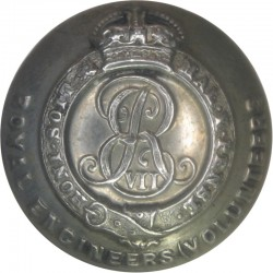 Royal Artillery 12.5mm with King's Crown. Brass Military uniform button
