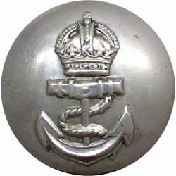Admiralty Constabulary - No Rim 25mm - Pre-1952 with King's Crown. White Metal Military uniform button