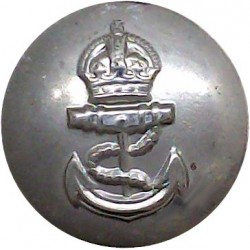 Admiralty Constabulary - No Rim 19mm - Pre-1952 with King's Crown. White Metal Military uniform button