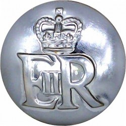 Ministry Of Defence Police - EiiR 25.5mm with Queen Elizabeth's Crown. Chrome-plated Military uniform button