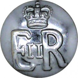 Ministry Of Defence Police - EiiR 19mm with Queen Elizabeth's Crown. Chrome-plated Military uniform button