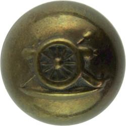 Royal Artillery Association Uniformed Staff:No Crown 18.5mm - Ball Button  Brass Military uniform button
