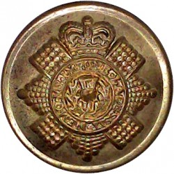 Leicestershire Regiment - 1st Volunteer Battalion 17.5mm - 3 Lions Silver-plated Military uniform button
