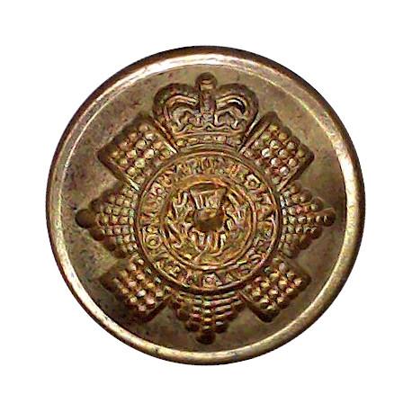 Leicestershire Regiment - 1st Volunteer Battalion 17.5mm - 3 Lions Silver-plated Military uniform button