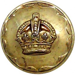 Leicestershire Regiment - 1st Volunteer Bn - Rimmed 25.5mm - 3 Lions  Silver-plated Military uniform button