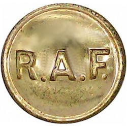 Royal Air Force - Mess Waiter's Button (RAF Letters) 16.5mm  Gilt Military uniform button