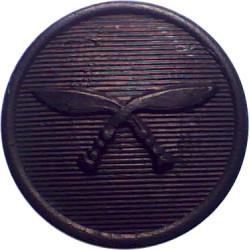 Brigade Of Gurkhas 15.5mm - Black  Horn Military uniform button