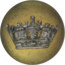 Royal Navy - Large Naval Crown - Blazer 14mm Mounted Dome  Silver-plate and gilt Military uniform button