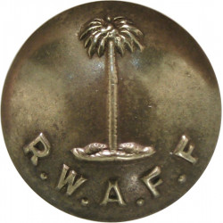 Royal West African Frontier Force 17mm - 1928-1960  Brass Military uniform button