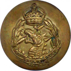 Royal Army Dental Corps 19mm - 1946-1952 with King's Crown. Brass Military uniform button