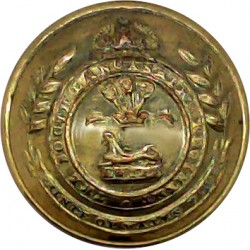 South Lancashire Regiment (Prince Of Wales's Vols) 19mm - Rimmed with King's Crown. Brass Military uniform button
