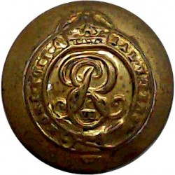 Admiralty Constabulary - No Rim 25.5mm - Pre-1952 King's Crown. Chrome-plated Military uniform button