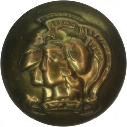 Royal Navy - Officers (Roped Rim) Unlined Background 16mm - 1891-1901 with Queen Victoria's Crown. Gilt Military uniform button