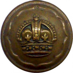 Ayrshire (Earl of Carrick's Own) Yeomanry 19.5mm with King's Crown. Brass Military uniform button