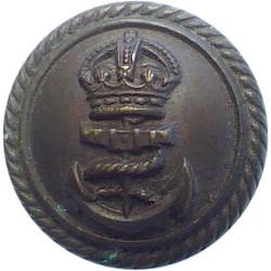 2nd King Edward VII's Own Gurkha Rifles (With Crown) 14mm - Black King's Crown. Plastic Military uniform button