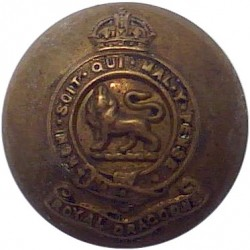 5th Dragoon Guards (Princess Charlotte Of Wales's) 25mm - 1901-1922 King's Crown. Brass Military uniform button