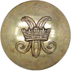 Women's Royal Army Corps 25.5mm  Gilt Military uniform button
