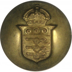 Royal Army Ordnance Corps - No Lettering 19.5mm - 1947-1952 with King's Crown. Brass Military uniform button
