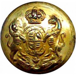 King's Own Royal Regiment (Lancaster) 14.5mm - Officers with Queen Elizabeth's Crown. Bronze Military uniform button