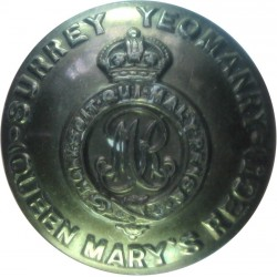 Surrey Yeomanry 25.5mm with King's Crown. Brass Military uniform button
