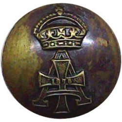 Artists Rifles 17mm - Post-1936 Blackened Military uniform button