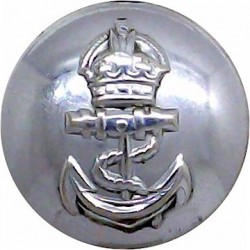 Admiralty Constabulary - No Rim 19mm - Pre-1952 with King's Crown. Chrome-plated Military uniform button