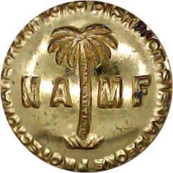 NAMF Sierra Leone Protectorate: Port Loko District 17.5mm  Gilt Military uniform button