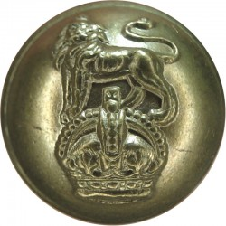 Queen's Own Royal West Kent Regiment - Rimmed 18.5mm with King's Crown. Brass Military uniform button