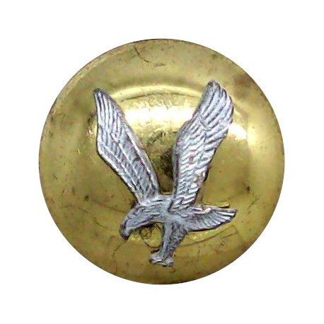 Army Air Corps (without Crown - Not In Ripley) 19mm Mounted Dome  Silver-plate and gilt Military uniform button