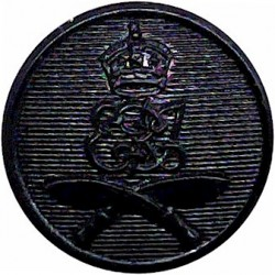 2nd King Edward VII's Own Gurkha Rifles (With Crown) 19mm Screw-Fit Black with King's Crown. Plastic Military uniform button
