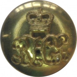 Berkshire Yeomanry Battery 299th Field Regiment RA 17.5mm with King's Crown. Brass Military uniform button