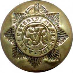 Army Veterinary Service - GvR 19mm - 1910-1918 with King's Crown. Brass Military uniform button