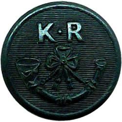 1st Kumaon Rifles (19th Hyderabad Regiment) - India 19mm - 1923-1947  Horn Military uniform button