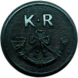 Royal Australian Air Force - Post-1970 13.5mm Mounted Dome with Queen Elizabeth's Crown. Gilt Military uniform button