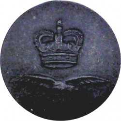 Royal Air Force - Modern Domed Pattern 23.5mm - Black with Queen Elizabeth's Crown. Plastic Military uniform button