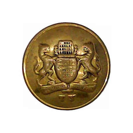 Westminster Dragoons (2nd County Of London Yeomanry) 16mm - Rimmed  Gilt Military uniform button