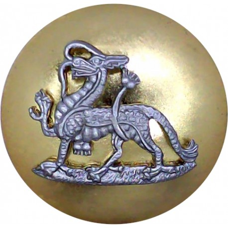 Duke Of Lancaster's Regiment - Post-2006 25.5mm Mounted Dome  Silver-plate and gilt Military uniform button