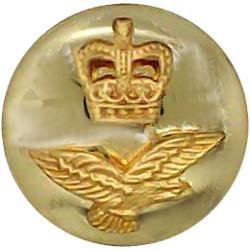 Canada - General Service Button 26mm - 1946-1952 King's Crown. Gilt Military uniform button