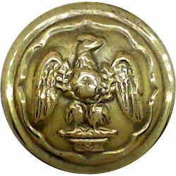 Canada - General Service Button 22mm - 1924-1946 King's Crown. Brass Military uniform button
